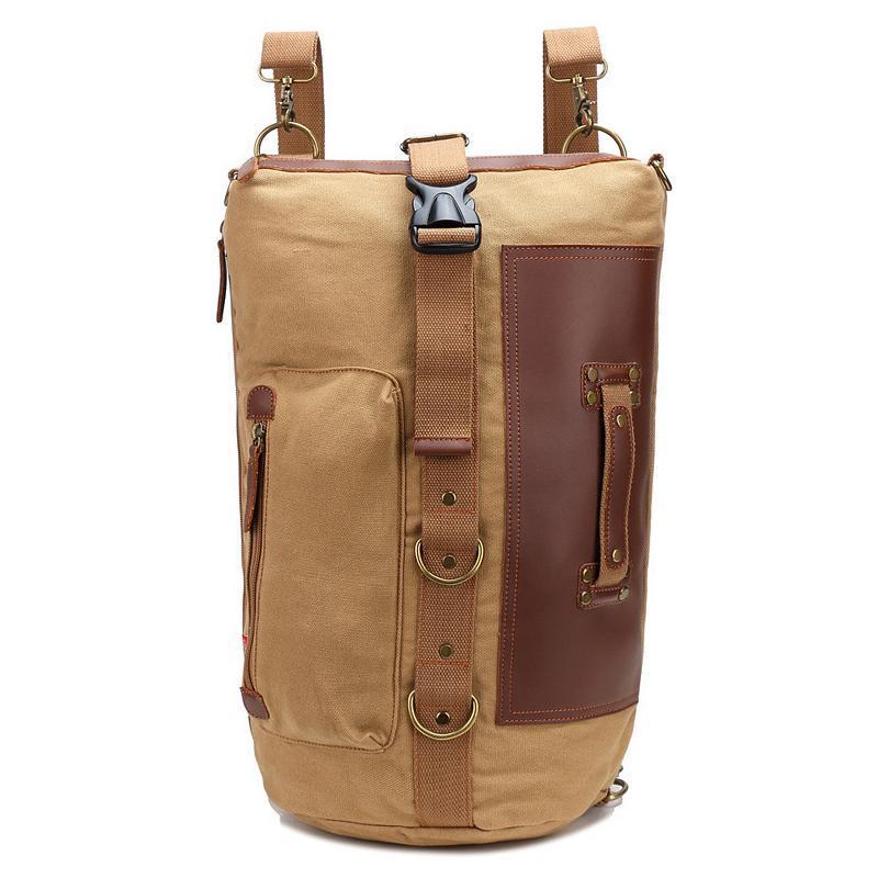 배낭 캔버스 양동이 핸들 어깨 가방 컴퓨터 가방 schoolbag.