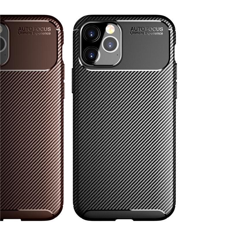 Funda telefónica de fibra de carbono delgada para la funda de cubierta XR del iPhone 12 XS para iPhone 11 Pro Max 7 8 Plus Se Coque ultrafino