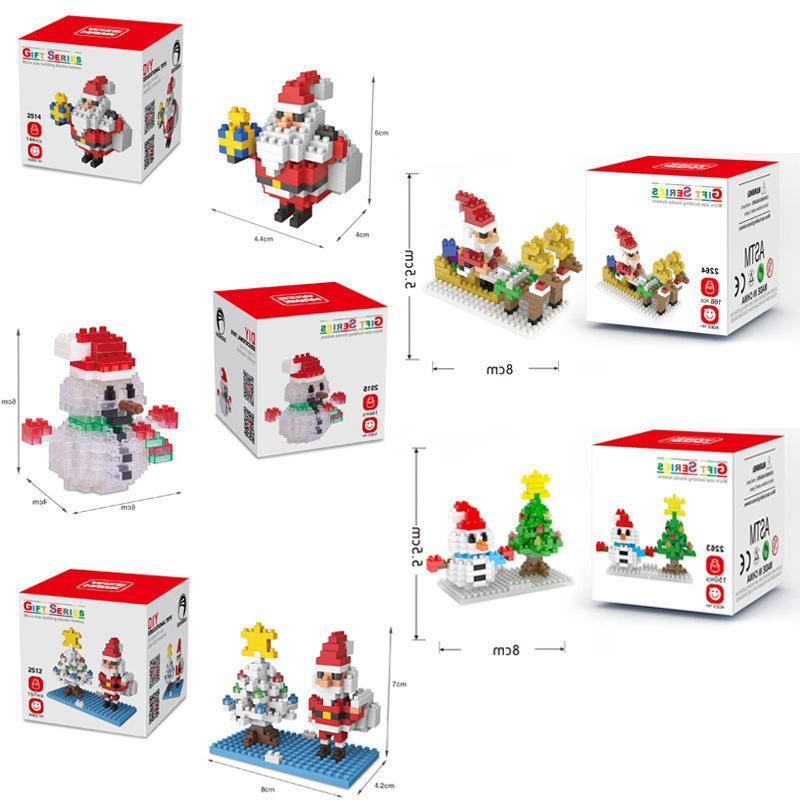2021 latestBuilding Снеговик 141pcs + Blocks Санта Клаус Рисунок Медведь чулок Мини Кирпичи игрушки для детей Рождественский подарок новый