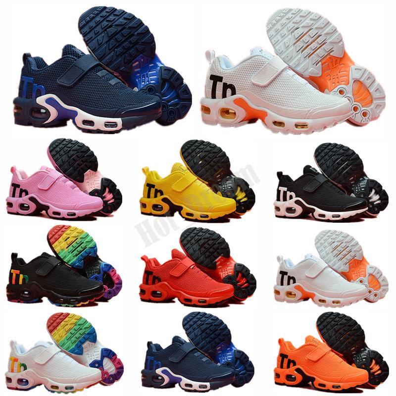 Mercurial Plus Tn KPU TN Plus Plus Kpu Magic Button Cushion Trainer Bambini Scarpe da corsa Scarpe Boy Girl GIOVANI BAMBINO Sport Sneaker Dimensione 28-35