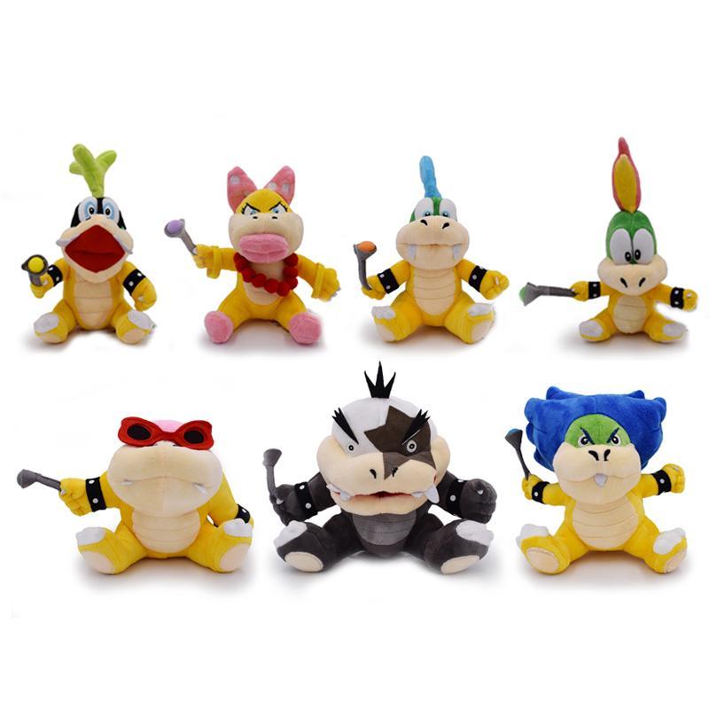 1pcs Mario Bros Roy Bully Lemmy Wendy Larry Morton Liggy Ludwig Koopa Bowser Koopalings Plush Doll Toy Stuffed Hot Toys