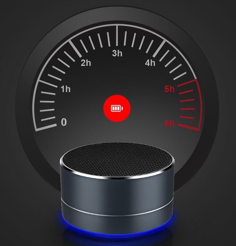 مكبرات صوت محمولة مصغرة A10 سماعات بلوتوث Wireless Handsfree مع فتحة بطاقة FM TF LED LED مشغل الصوت ل MP3 Tablet PC في المربع