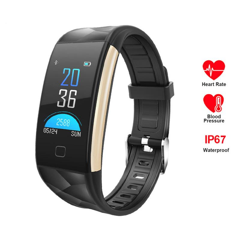 T20 Smart Bracelet Blood Pressure Blood Oxygen Heart Rate Monitor Smart Watch Fitness Tracker IP67 Waterproof Wristwatch For iPhone Android