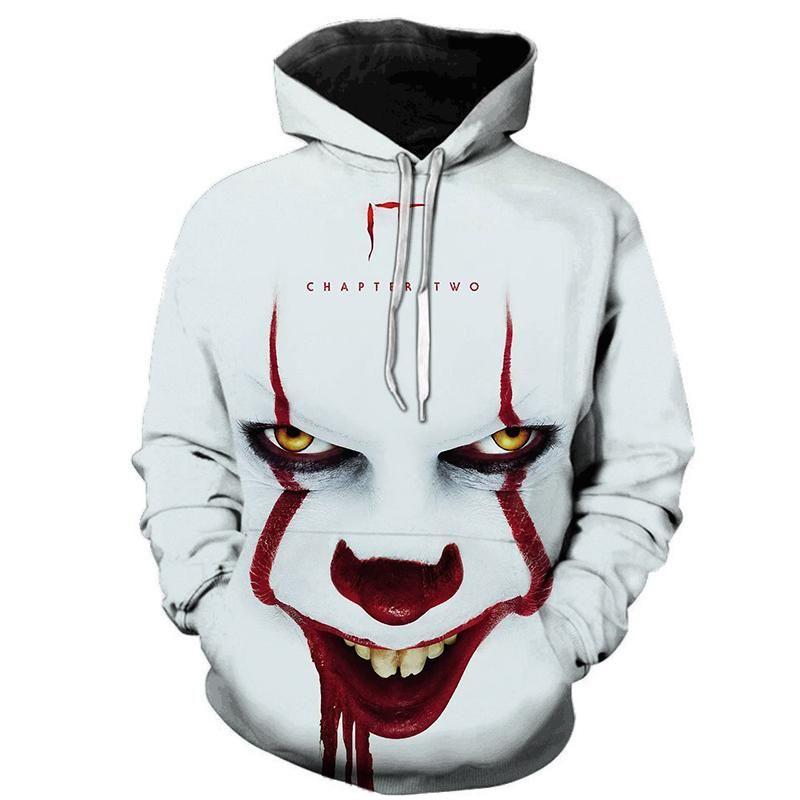 New 2020 Amerian Horror Film IT Chapter Two 3D Hoodies Männer-Frauen-beiläufige Sweatshirts IT Pennywise Cosplay Chucky Sweatshirt