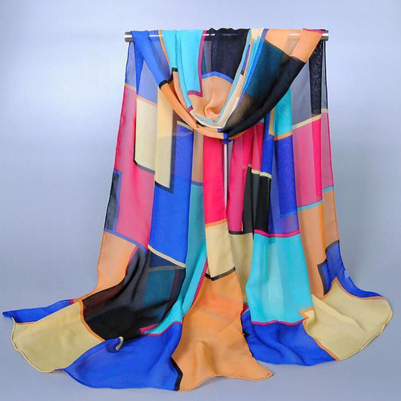 patchwork fino chalas seda Satin Satin SPARF para Lady Retro Head Cuello Vintage Long Wrap Womse Shawl Stole Bufanda Bufandas