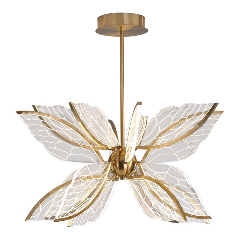 Mariposa LED creativa colgante lámparas de diseño nórdico Personalidad Foyer Habitación Salón de acrílico accesorios de iluminación regulable Lámpara