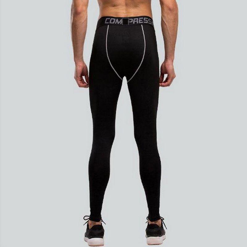 Men Skinny Sport Pants Casual Sexy Elastic Waist Bodybuilding Joggers Pencil Pants Letter Print Patchwork Gymwear Leggings