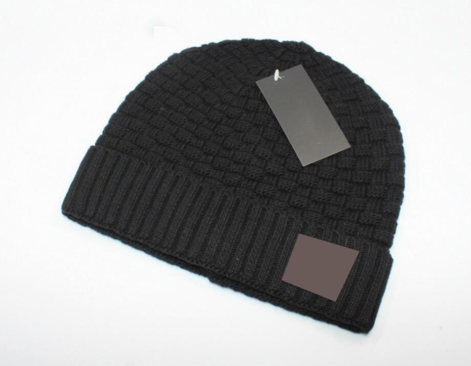 autumn winter man beanie Cool fashion hats woman Knitting hat Unisex warm hat classic cap black BRWON knitted hat 5colors drop shipping