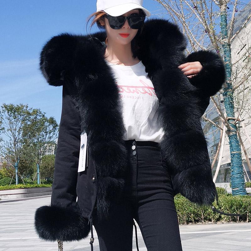 2019 новое шубовое пальто женский сплошной цвет тонкий короткий меховой воротник Wild Party, чтобы преодолеть зимнюю одежду1