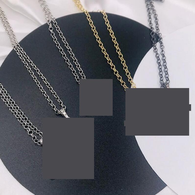 Colgante boutique de alta calidad Cadena de perlas de diamante completa Cadena de clavícula Cadena de clavícula Collar de cadena de moda Accesorios de joyería