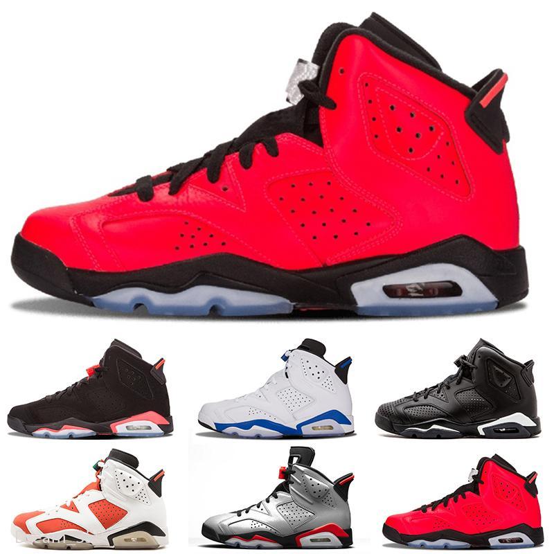 4 4s Bred Ce que le Cactus Jack Travis 6 Hommes Chaussures de basket-ball 6s chat noir au néon vert métallique Femmes homme sport Chaussures de sport