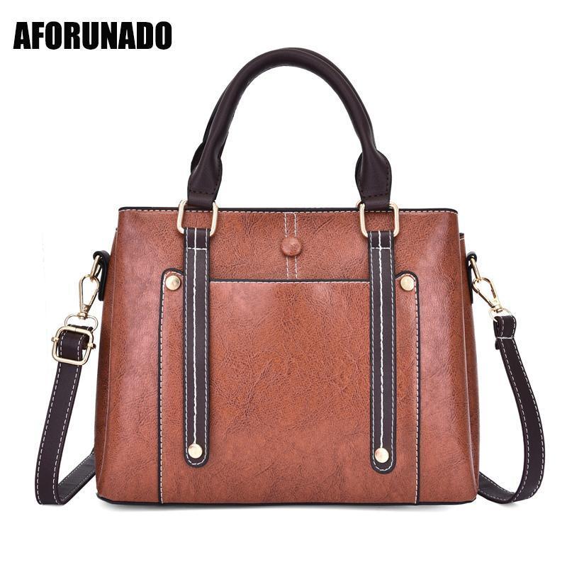 Vingtage Luxury Designer Taschen Taschen Marke Tote Handtasche Frauen Frauen Einfaches Leder für Schulter 2020 Crossbody Messenger Bag Ljdnh