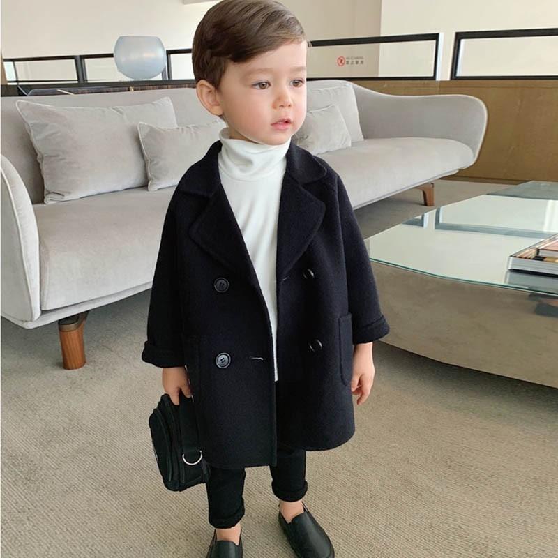 Новые дети пальто шерстяные пальто для мальчиков мода осень осень зимняя куртка мальчик ветровка детей зима пальто 6 y высококачественная решетка 201126