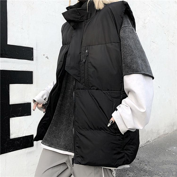 Fashion Womens Down Vests Parkas Winter Autumn Outerwear Men & Women Vests Letter Pattern Coats Womens Clothing Tops Hot Sale