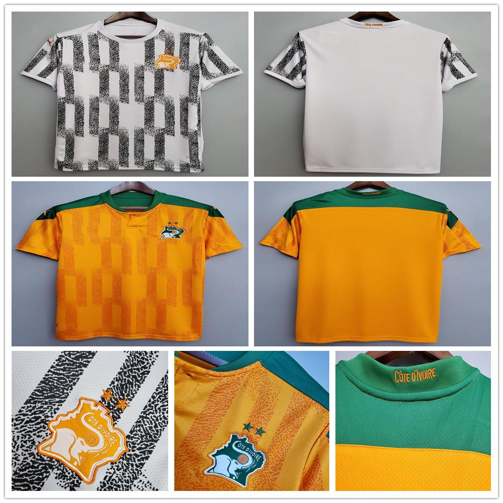 2020 2021 Cote d Ivoire Soccer Jersey national team ivory coast DROGBA KESSIE ZAHA CORNET Maillot de foot customize man football shirt