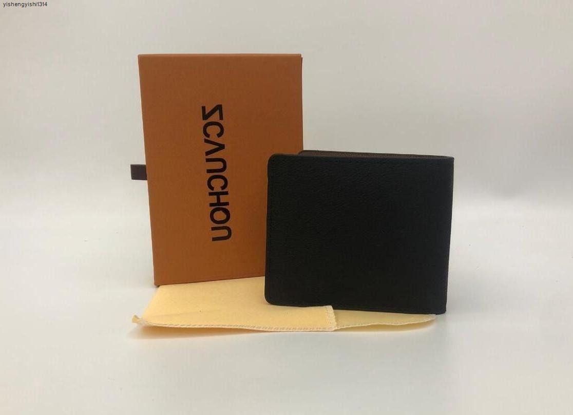 2020 735W PU de haute qualité Cross-Portefeuille Cross-Portefeuille pour homme Pochettes de poche avec des sacs à main de la marque avec des sacs à main en cuir de boîte TNFV