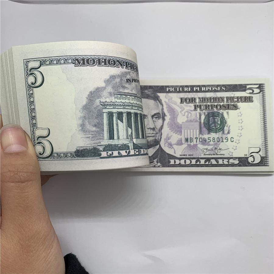 Съемка детских игрушек производительность кованые деньги U.s.currency 5 Копирование RBBUI Доллар F10 Банкноты Fake Bar Ring Bank Eskoa