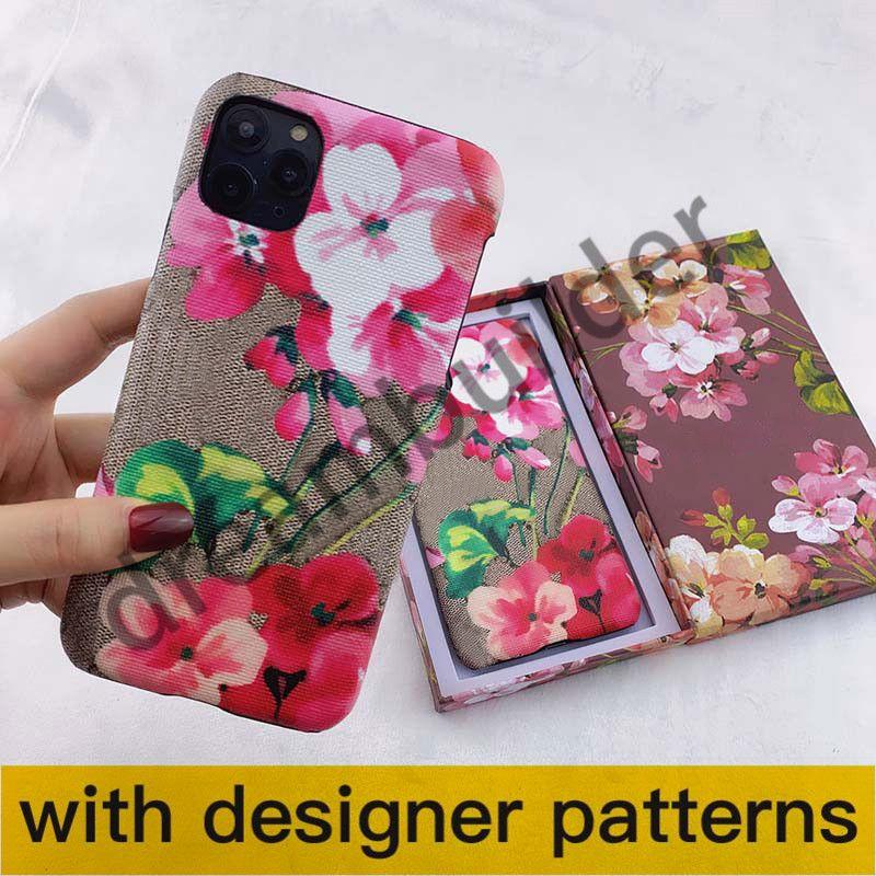 G Designer Telefon Kılıfı Için iPhone 12 Pro Max 11 Pro Max 7 8 Artı XR XS Max Kapak PU Deri Lüks Samsung Shell S10 S9 Not 8 9 10Pro