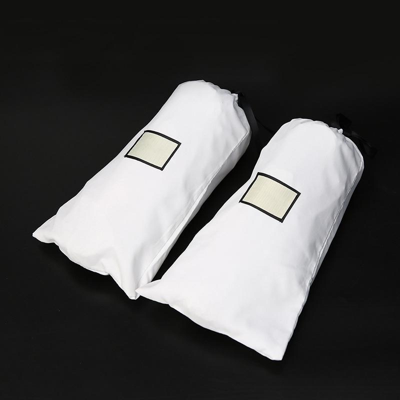 Siyah Beyaz Takı Torbalar Hediye Çanta İpli Bez Toz Geçirmez Çanta Perakende Ambalaj Moda Takı Cüzdan Kemer Omuz Çantası Çanta