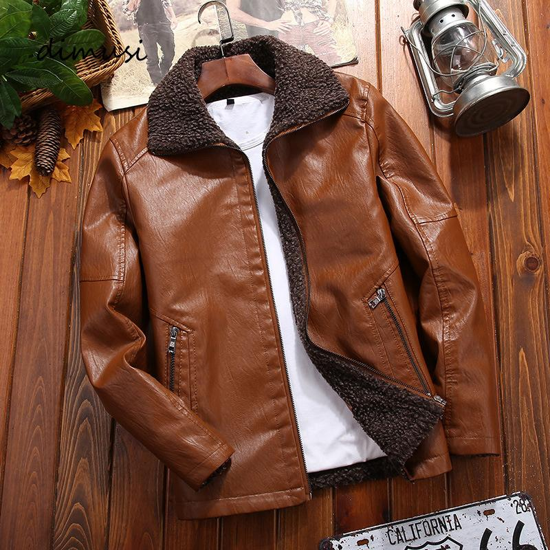 New Leather Jackets Men Winter Fleece Casual Motorcycle Jackets Male Fur Collar PU Biker Coat Mens Brand Clothing 8XL