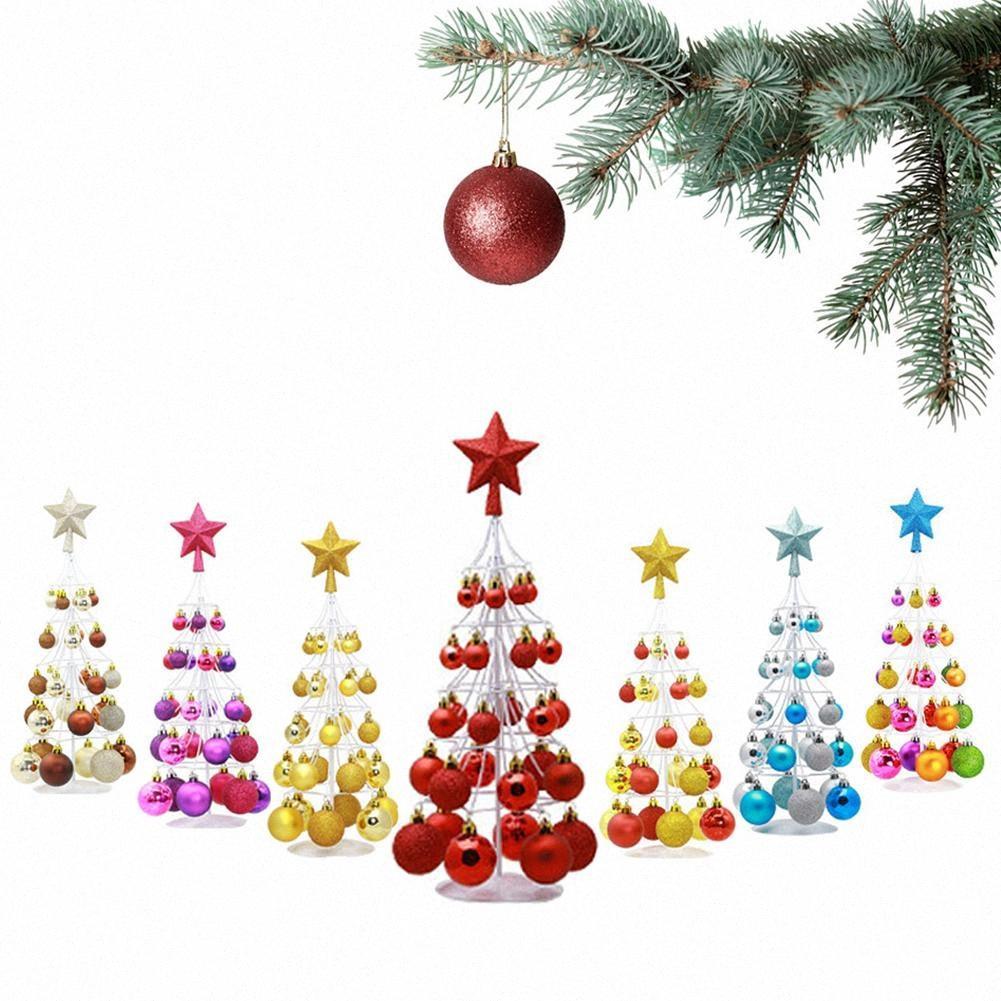 Mini Noel Topu Kulesi Tree Top Yıldız Noel Dekorasyon Dekorasyon için Xmas Dekorasyon Nmsf #
