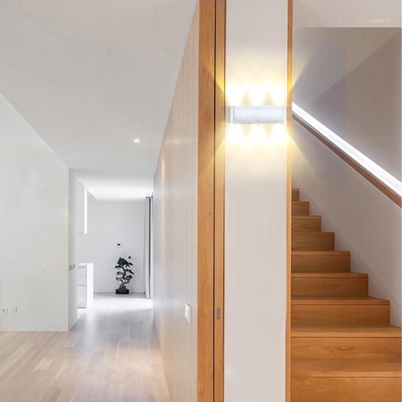 6W Lampada LED Aluminium Wall Pluminium Rail Square-Voyant LED Lampe murale Chambre de chevet Chambre Décor Arts1