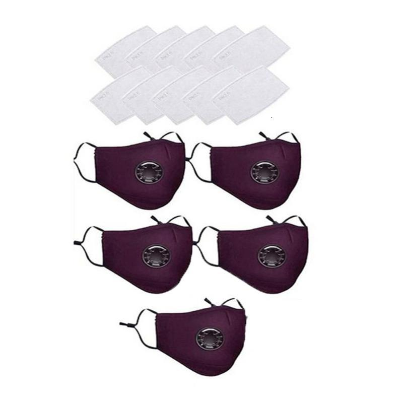 с маской 5PC 10шт многоразовых фильтров Хлопка Дышащих маски Germ защиты для взрослых Бесплатной доставки Face Maks бандана