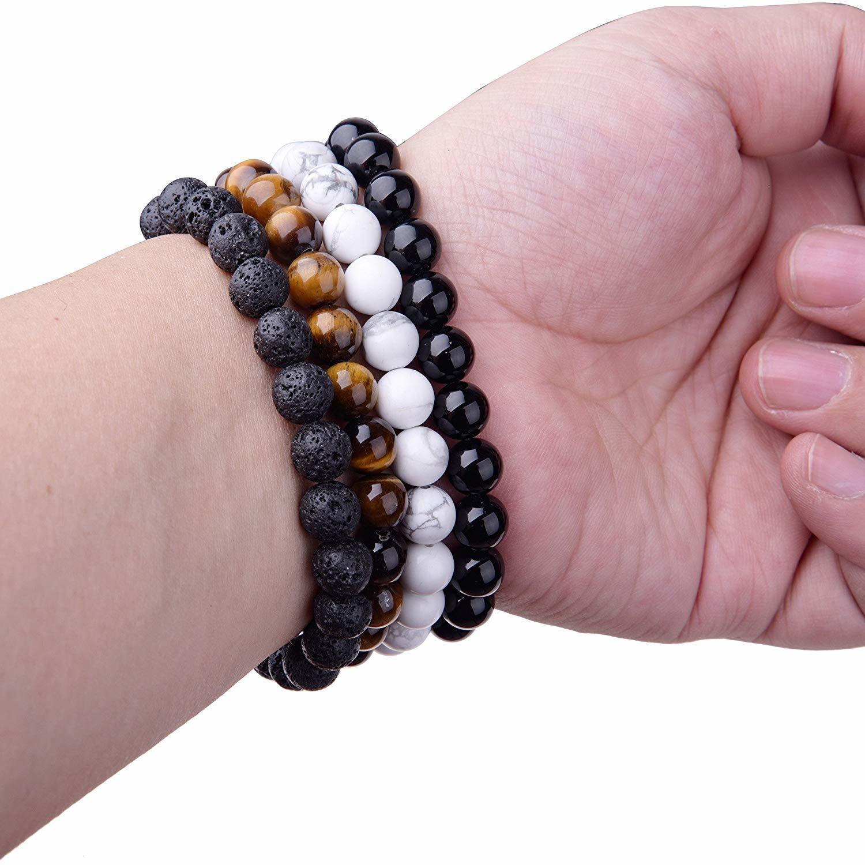 Заводская цена Камень натуральный натуральный лава Handmade Bead 8 мм для мужчин Женщины Регулируемые маслофюмерные духи диффузор-диффузор заживление браслета Stretc