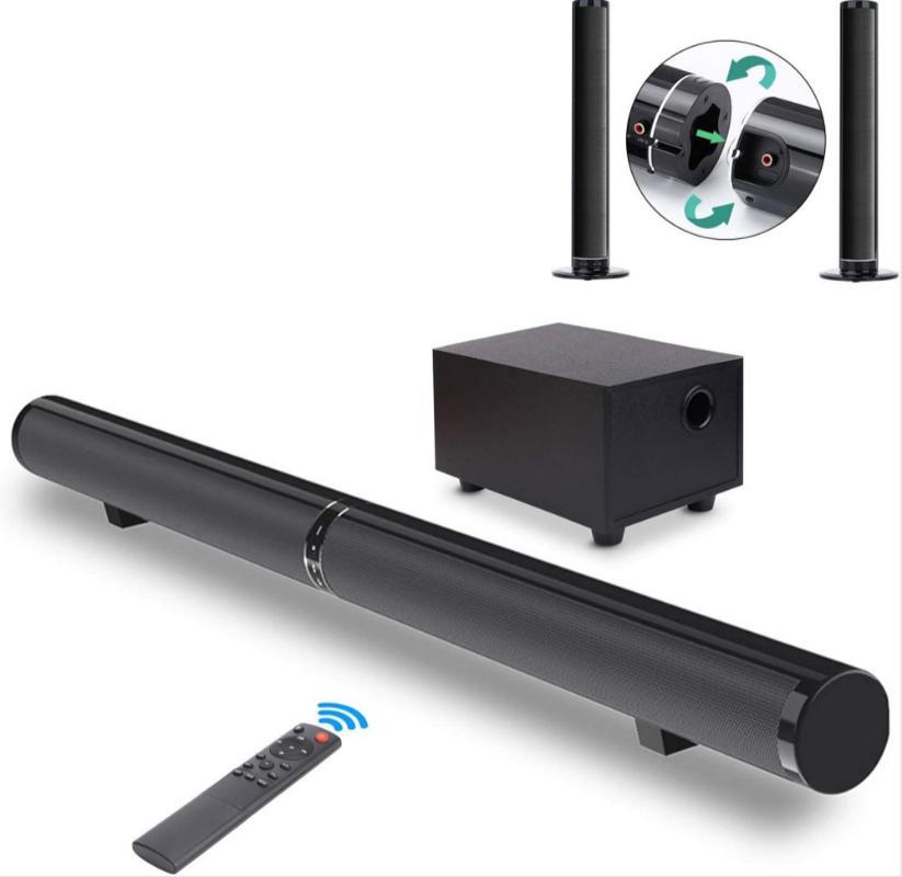 65W Home Theater TV Soundbar Separable Bluetooth Speakers Audio 2.1 Echo Wall Sound Bars With Subwoofer Bass
