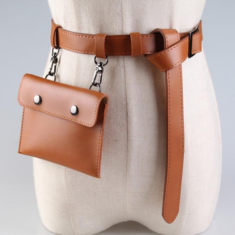 Los más vendidos de la cintura correa del bolso de las señoras de la mini bolsa decorativo monedero correa decorativa