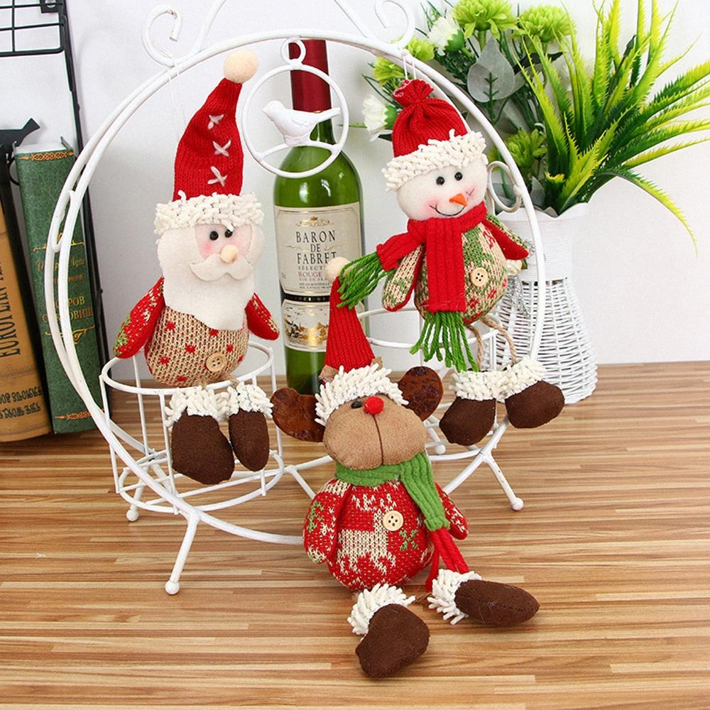 Merry Christmas Ornaments Christmas Gift Santa Claus Snowman Tree Toy Doll Hang Decorations For Home Enfeites De Natal#20 yeNF#