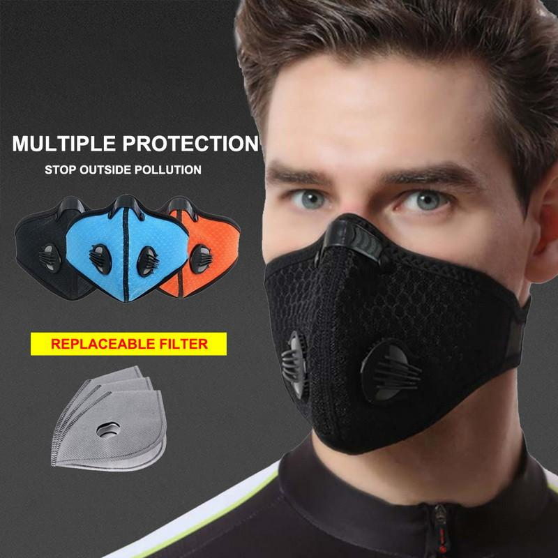 Biking Anti Dust Bike Face Mask With Activated Carbon Man Woman Running Cycling Anti-Pollution Outdoor Bike Face Isolation Mask DWC3767