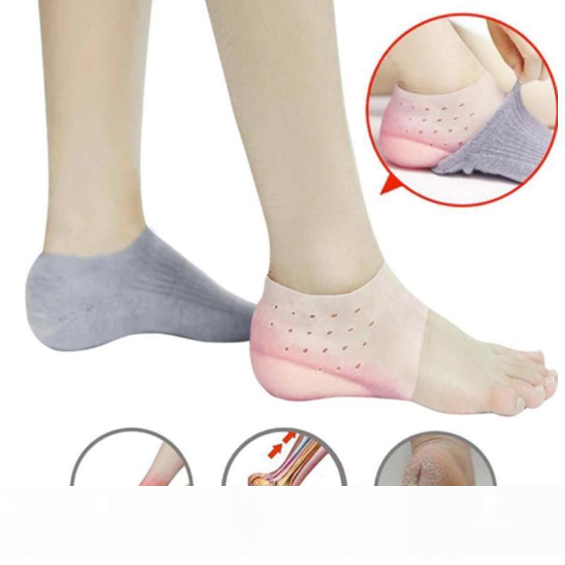 1Pair Invisible Height Increased Insoles Silicone Heel Socks for Women Men YU-Home