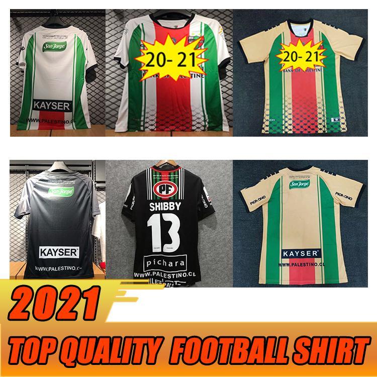 2020 New Palästina Fußball Jersey 20 21 Thai-Qualitätsübersicht Palästinenser Palästinenser Palästino Rosende Fußball-Hemd