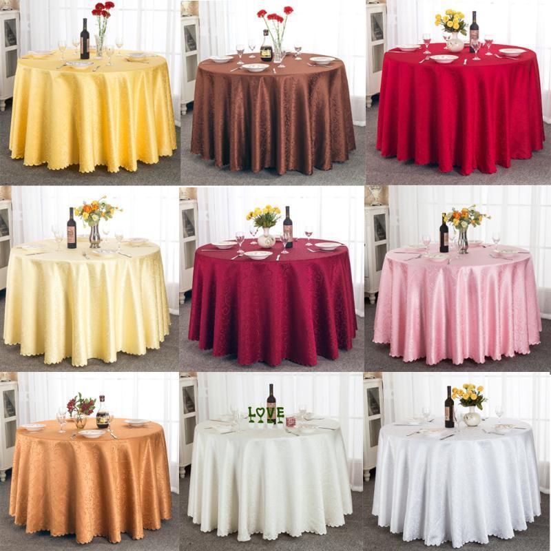 Hohe Qualität Tischtuch 63 Zoll / 108 Zoll / 118 Zoll / 132 Zoll Polyester Jacquard Runde Tischdecke für Hochzeitsfest Dekoration
