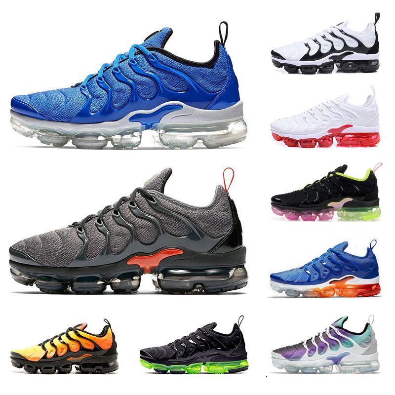 Оригинальный 2020 Открытый TN PLUS Обувь для мужчин Женщины Спортивные кроссовки Мужские Треанеры Chaussures Triple Черный Белый Синий Оранжевый Вольт