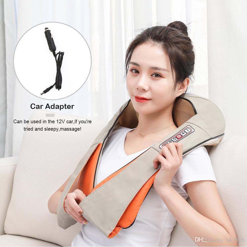 Massaggi Shiatsu elettrico posteriore spalla corpo Massager del collo multifunzionale Scialle infrarossi riscaldata Impastare auto / casa per massaggi