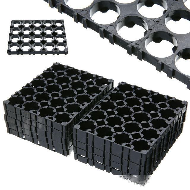 ccessoires Boîtes de rangement Pièces de 4x5 Cellule 18650 Batterie Spacer batterie de haute qualité Rayonnant Titulaire Heat Shell en plastique Bracke ...