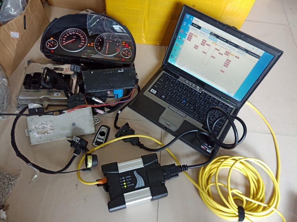 obd2 ferramenta de diagnóstico para bmw icom programador icom próxima 2020.09v HDD modo especialista em 4g laptop D630 pronto para o trabalho