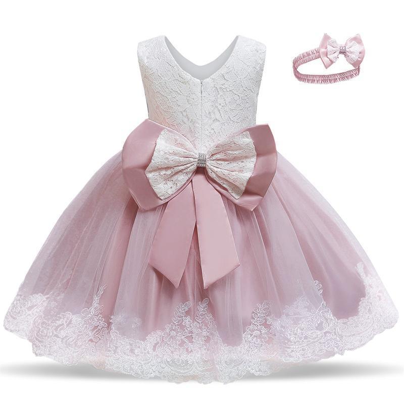 Doğum günü partisi Bebek Kız Elbise ve Düğün Noel Elbiseleri Prenses Çiçek Tutu Elbise Küçük Kız 2adet Balo Balo