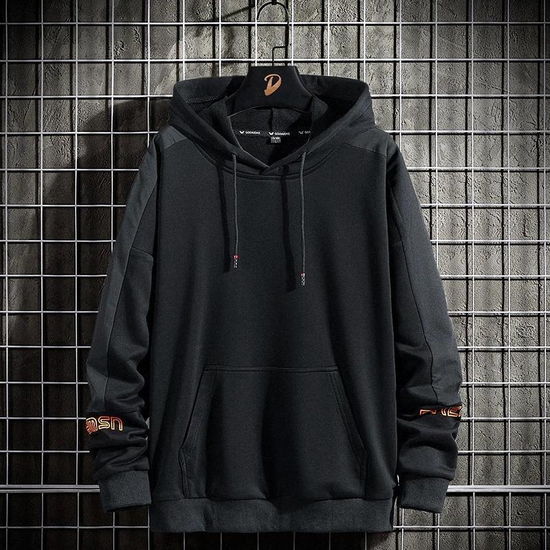 2020 Nouvelle arrivée Harajuku lettrage noir Sweats à capuche d'impression pull-shirt sweat-shirt hip hop manches longues de haute qualité streetwear # io0m