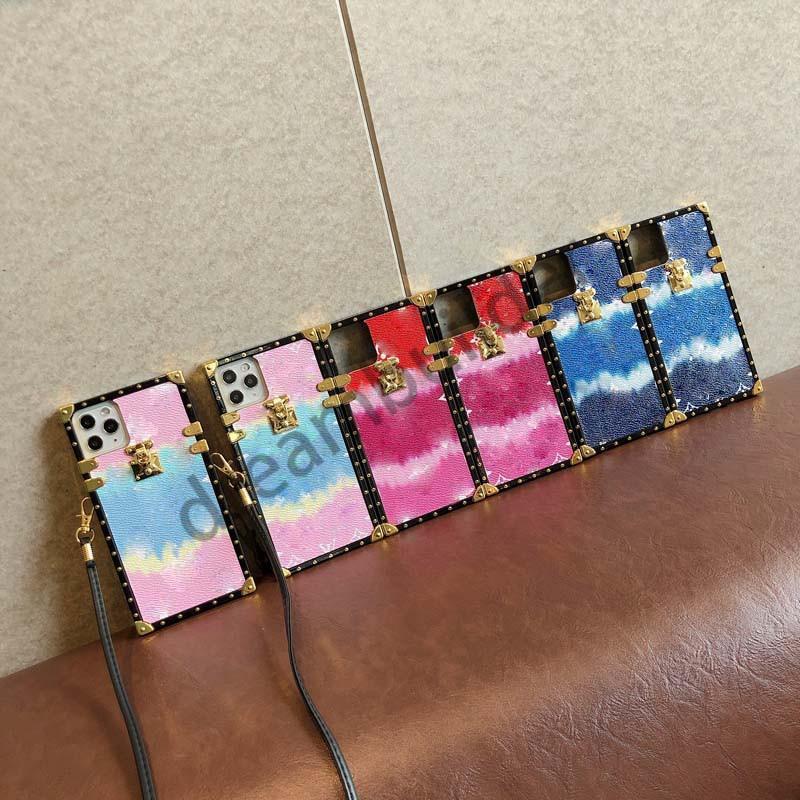 Designer Fashion Phone Custodie per iPhone 12 Pro Max 12 Mini 11 XR XS Max 7/8 Plus PU Cover in pelle PU per Samsung S20 S10 Plus Nota 8 9 10