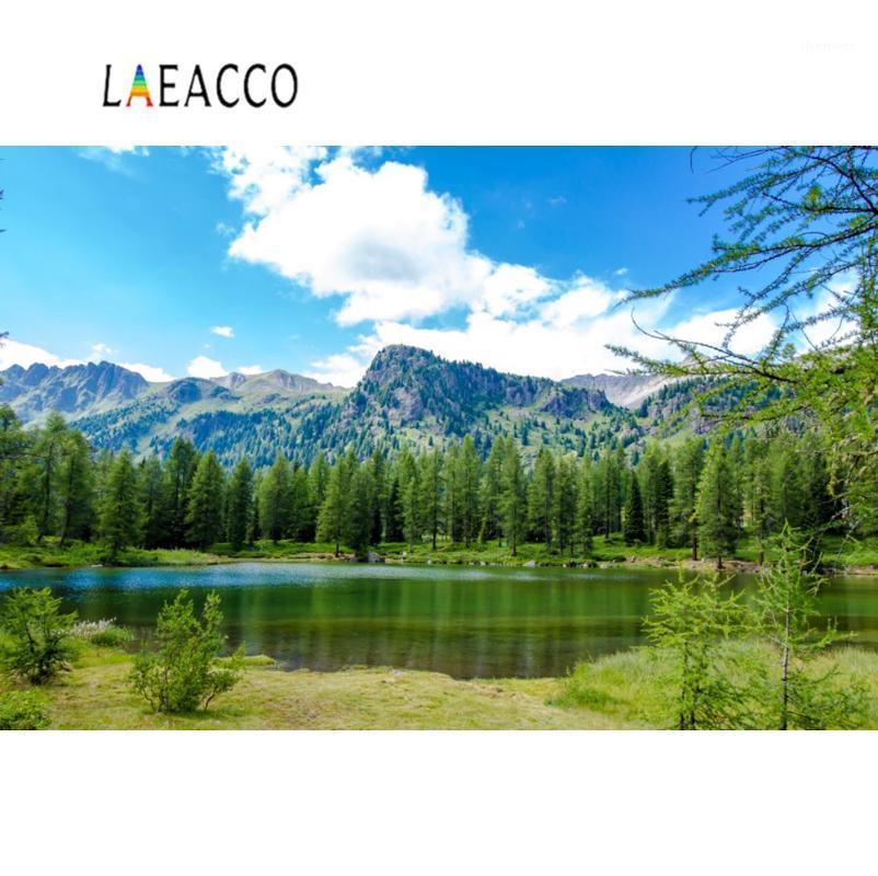 배경 소재 자연 배경 호수 산 트리 숲 녹색 잔디 푸른 하늘 흐린 경치 좋은 첨탑 배경 pocall po studio1