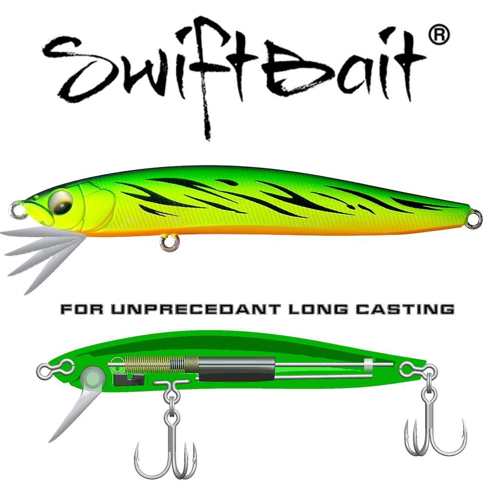 SFT 90S NUEVO SISTEMA DE LIP DE SWING AR-C Hundiendo Minnow 13G Wobbler Jerkbait Swiftbait Fishing Fishing Tackle For Bass Trout Seebass Bait Y200829