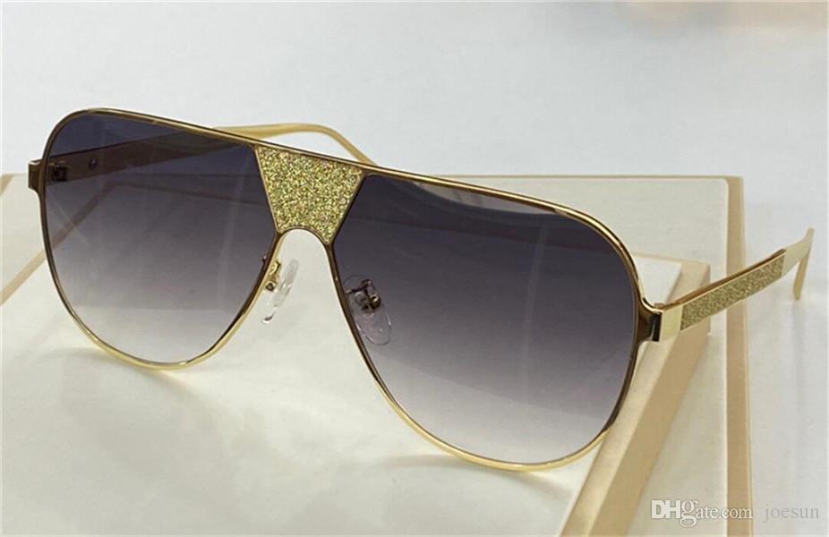새로운 패션 디자인 선글라스 813S 인기있는 안경 판매 조종사 프레임 Avant Garde 스타일 반짝이 디자인 UV400 보호 안경 최고 품질
