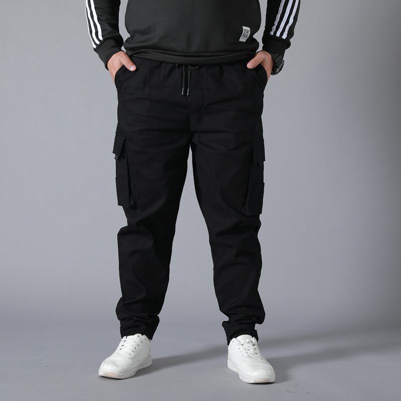 Износостойкая Multi-карман штаны Брюки Плюс Размера рабочих одежды Jogger Супер Свободные Мужчины Хлопок повседневные брюки