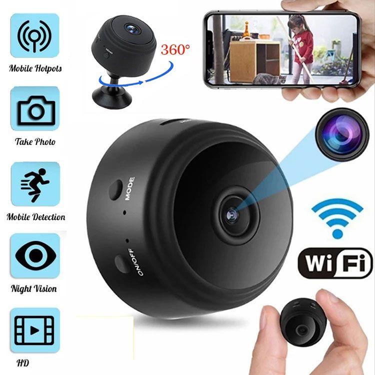 Cámara A9 HD Mini Wifi de la cámara de seguridad CCTV Inicio P2P Cámaras Cam Noche inalámbrico de vigilancia de la visión a distancia Monitor de aplicación de teléfono