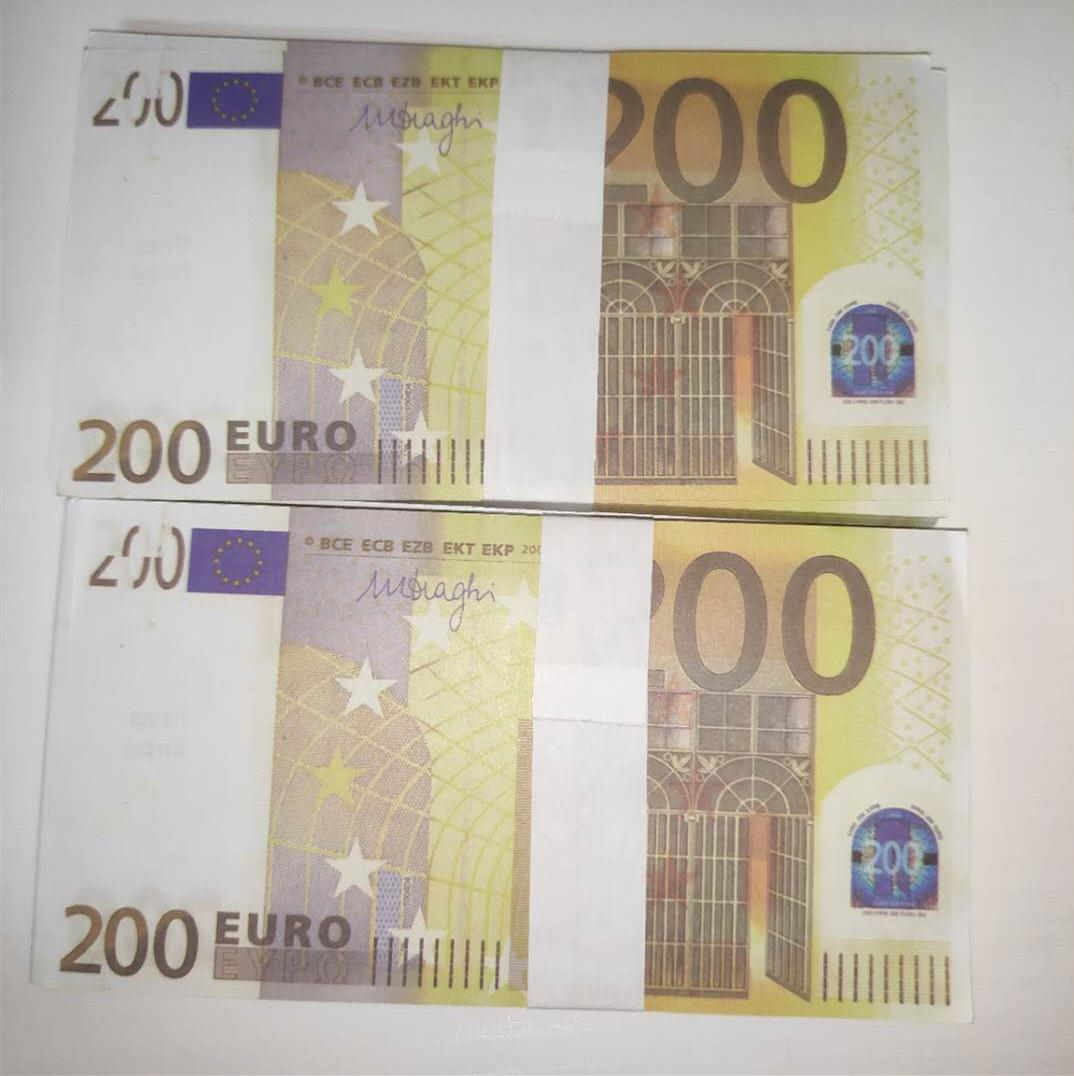 Dinheiro 200 falsificador LE200-49 novo palco tartaruga atmosfera bar tarty festa atmosfera bar faux euro ado heona tbusd