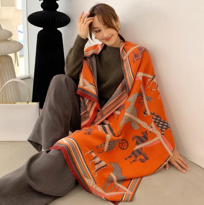 2020 겨울 스카프 여성 캐시미어 스카프 새로운 패션 따뜻한 풀 아가씨 최고 품질의 스카프 여러 가지 빛깔의 두꺼운 소프트 shawls 랩