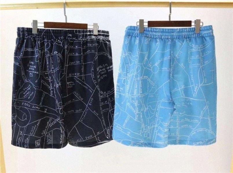 Pantalones cortos de verano para hombre del diseñador Marca shorts de playa casual Marca de cajera mapa para hombre Impreso correa corta el tamaño asiático M-2XL ENKK p5Gu #